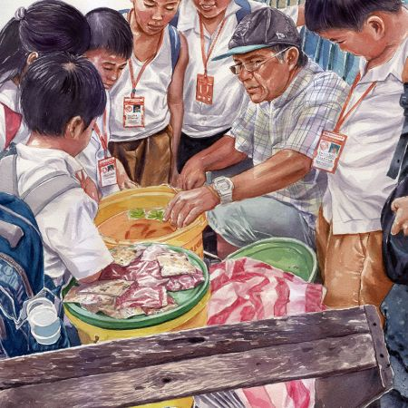 parokyano / Patron, 21 x 29 inches, sold