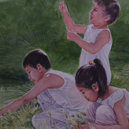 sa tabing sapa / By the stream, 21 x 29 inches, available